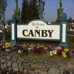 Canby Oregon Welcome Sign