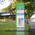Downtown Portland Riverfront Sign