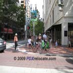 Downtown Portland Street View & Sidewalk